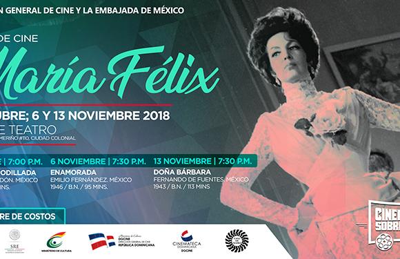 """Realizarán Ciclo de Cine """"María Félix"""" en Dominicana"""